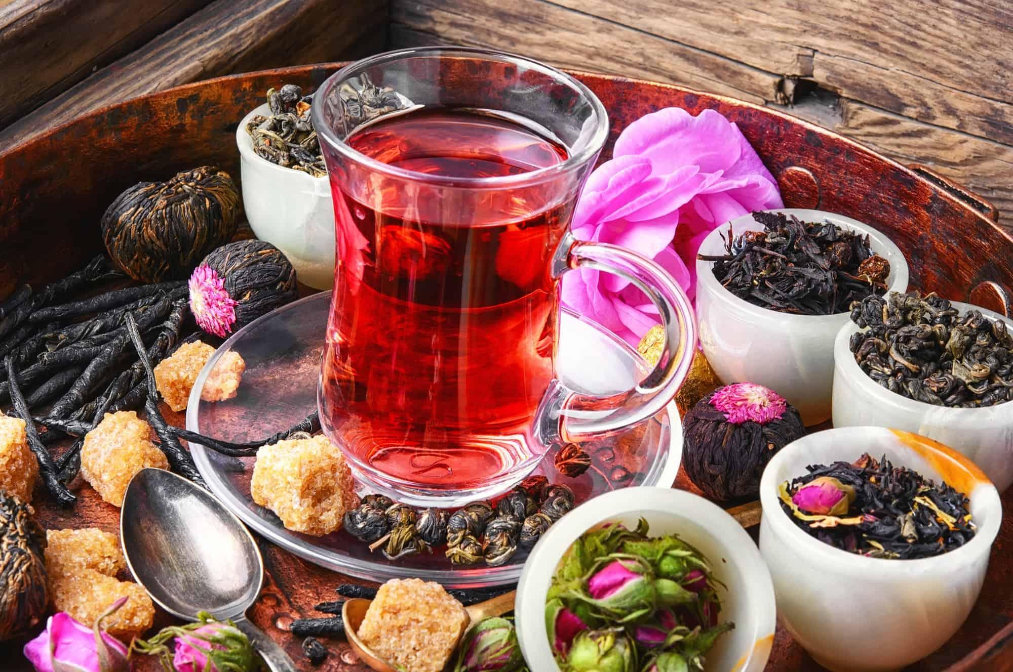 Tea cup and herbal tea